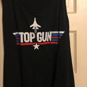 Tops - Plus size Top Gun graphic tank top